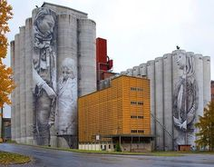 Super A Arte Urbano Pinterest City Streets And Street Art - Building in berlin gets transformed by amazing 137 foot tall starling mural