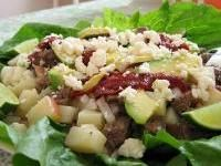 "Guatemalan Beef Cold Salad --- Guatemalan on my mom's side, this is something I remember and prepare fondly called ""Salpicon de Res""...some really good variations (mine and Truer to the real Traditional recipe)...dice up the meat very fine, add lots of lemon juice, mint, finely sliced onion and a bunch of very finely sliced radishes. OMG - serve on a tostada, crispy taco or just eat with tortilla chips! Yum...."