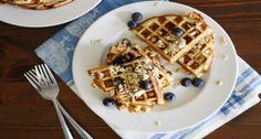 Gluten-Free Blueberry Muesli Waffles