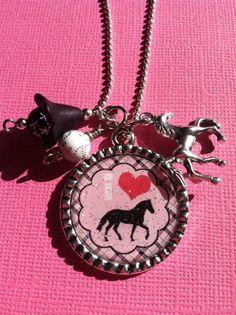 Little Girls I Love Horses Bottlecap Charm by TheLittleGreenWagon, $15.50