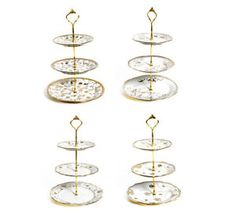 3 Tier Gold Detail Cake Stand Stands Ceramic Vintage Style Party Holder Display   eBay