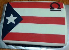 Puerto Rican Flag Cake with Virgo Sign https://www.facebook.com/pages/A-Dash-of-This-That/133511196706891