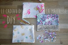 Maayle Chic http://maaylechic.blogspot.com DIY  pochette couture  flamand rose ananas paillette homemade