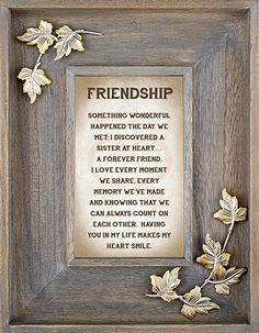 Friendship Picture Frame