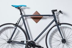 Bike Rack Bike Shelf  Wall Mount / Burnside / Mahogany or