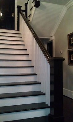 Black Bannister and stairs.