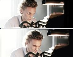 Jace playing the piano. His expression!!!