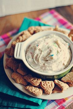 Delicious, guilt-free Trunk Show treat! 'Funfetti Cake Dip'