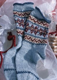 Regia fairisle socks - free pattern
