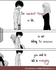 It hurts internally. It tears you apart yet, you pretend to be fine without them when you see them around. Sad Anime Quotes, Manga Quotes, Quotes Deep Feelings, Mood Quotes, Cute Quotes, Best Quotes, Stranger Quotes, Dark Quotes, Depression Quotes