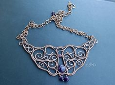 Handmade Wire Wrapped Copper Necklace With by LovePotionDesign, €50.00