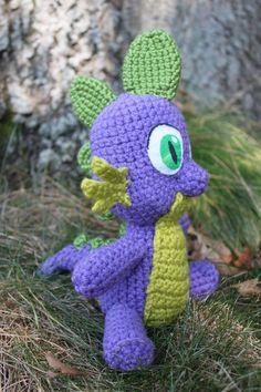 Crochet Pattern: Spike the Dragon Amigurumi PDF by MilesofCrochet