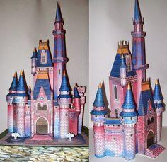 Vintage Disney: Cinderella Castle Paper Model | Tektonten Papercraft