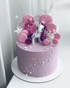 Candy Birthday Cakes, Birthday Cakes For Women, Cute Cakes, Yummy Cakes, Beautiful Cakes, Amazing Cakes, Fondant Cakes, Cupcake Cakes, Little Pony Cake