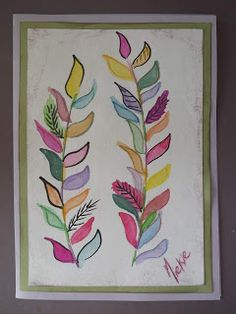 A Pretty Talent Blog: Cardmaking: Watercolours - Twigs Easy Watercolor, Watercolour Painting, Watercolours, Acrylics, Cardmaking, Vines, Arts And Crafts, Crafty, Drawings