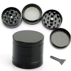 Modern Nice 4 Layers Metal Tobacco Crusher Hand Muller Smoke Herbal Herb Grinder Black New XQ Drop shipping #Affiliate