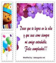 mensajes con imàgenes de felìz cumpleaños para mi amiga , saludos con imàgenes de cumpleaños para mi amiga, postales con palabras para desear felìz cumpleaños a mi mejor amiga: http://www.datosgratis.net/frases-lindas-de-cumpleanos-para-un-amigo/