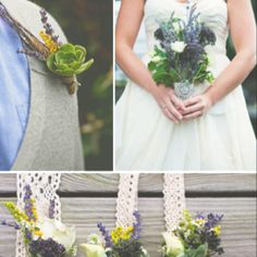 Love lavender and lace/crochet.