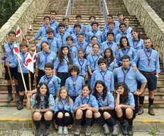 Scouts and Guides from AGESCI in Italy, the national Catholic association.