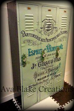 Ava Blake Creations: 1940's Vintage Perfume Label Lockers