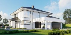 DOM.PL™ - Projekt domu CPT HomeKONCEPT-64 CE - DOM CP1-80 - gotowy koszt budowy 2 Storey House Design, Duplex House Plans, Home Fashion, Diy Home Decor, Contemporary, Mansions, Pergola, House Styles, Outdoor Decor