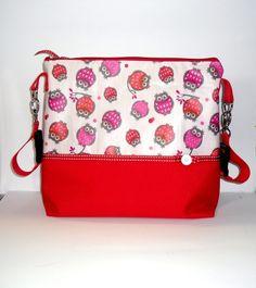 Kinderwagentasche+Eule+rot-pink+von+Traumtäschle+++auf+DaWanda.com