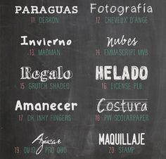 Recursos molongos: tipografías para pizarra