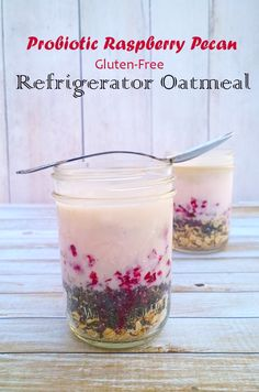 Busy mornings got you feeling rushed? Try this easy and nutrition packed probiotic refrigerator oatmeal for a quick and delicious start to your morning. Best Paleo Recipes, Gluten Free Recipes, Real Food Recipes, Refrigerator Oatmeal Recipes, Real Food Cafe, Delicious Breakfast Recipes, Paleo Breakfast, Gluten Free Oatmeal, Raspberry Recipes