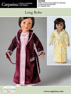 Long Robe for American Girl and Carpatina Dolls - PDF Download Pattern