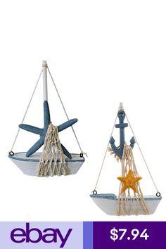 Nautical Sailboat Anchor Sailing Ship & Starfish Sailing Ship Home Decor Anchor Bathroom, Sailboat, Hanging Chair, Starfish, Sailing Ships, Nautical, Ebay, Home Decor, Products
