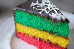 Italian Rainbow Cookie Cake by Alejandra of Always Order Dessert, via Flickr