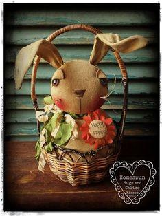 Primitive Bunny Rabbit by Homespun Hugs and Calico Kisses