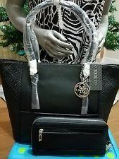 NWT Guess Delaney handbag and wallet Womens Handbags Guess Purses, Guess Handbags, Chanel Boy Bag, Shoulder Bag, Wallet, Black, Women, Black People, Shoulder Bags