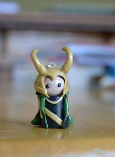 Polymer clay Loki