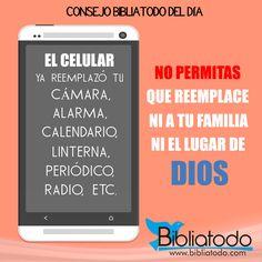 No permitas que el celular reemplace a tu familia ni el lugar de Dios Descargar Imagen full Resolucion Click Aquí Deja tus comentarios