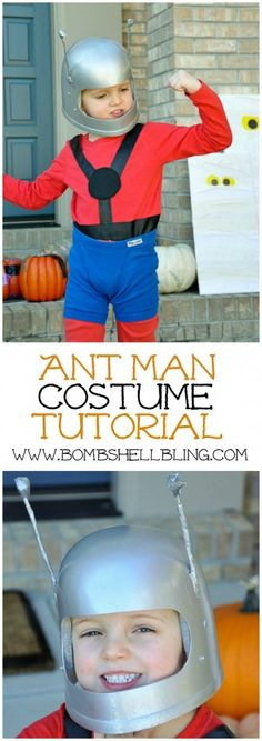 Ant-Man and The Wasp: The Avengers Family Costumes - What a little cutie! See how his mama made the Ant Man costume very simply!