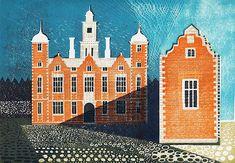 Blickling Hall (linocut - unframed £225 - edition of 18) by Ed Kluz