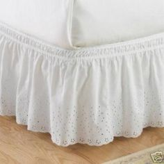 Image Detail for - Victorian Eyelet Lace Dust Ruffle..&..Mattress Cover & Protector for ...
