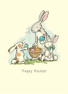 Anita Jeram Gifts and Cards Easter Illustration, Rabbit Illustration, Illustration Children, Illustration Pictures, Illustration Artists, Rabbit Drawing, Cat Drawing, Easter Cats, Happy Easter