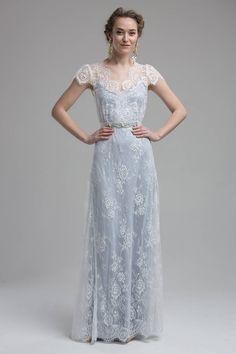 Light Blue Wedding Dress, Blue White Weddings, Wedding Dress Trends, Colored Wedding Dresses, Elegant Wedding Dress, Perfect Wedding Dress, Wedding Colors, Bridal Dresses, Wedding Gowns