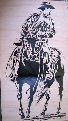 and some more of my scroll saw work - Woodworking creation by Charles Dearing Scroll sawyer and pattern designer - WoodworkingWeb Wood Burning Stencils, Wood Burning Patterns, Wood Burning Art, Horse Stencil, Stencil Painting, Lion King Art, Scroll Saw Patterns Free, Antler Art, Cowboy Art