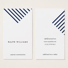 Simple Minimalist professional blue nautical lines Business Card - Graphic Templates Search Engine Student Business Cards, Business Cards Layout, Simple Business Cards, Brochure Design, Branding Design, Logo Design, Corporate Design, Design Layouts, Identity Branding