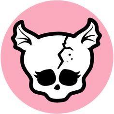 Monster High by Airi Monster High Wiki, Arte Monster High, Skull Template, Overlays, Cartoon Character Tattoos, Howleen Wolf, Rochelle Goyle, Personajes Monster High, Catty Noir
