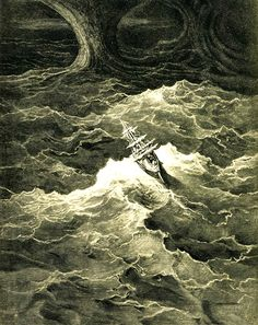 DORÉ, Gustave (1832-1883)  Illustration for The Rime of the Ancient Mariner by Samuel Taylor Coleridge 1866 Engraving Ed. Orig. Lic. Ed. Classic Art