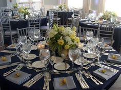 I don't know if to go with blue linen or ivory linen for our reception tables.