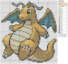 149 - Dragonite by Makibird-Stitching.deviantart.com on @deviantART