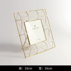 Aqumotic Rectangle Metal Picture Frame Black Square Iron Gold Picture Photo  Frame Wedding Photo Creative Pendulum Table 7cb50a6ec44c