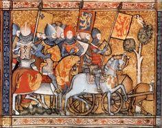 Medieval Knights on Horseback