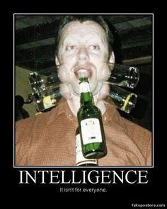 Intelligence - Demotivational Poster