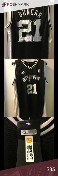 776ec38a5 Brand New - Tim Duncan - San Antonio Spurs Jersey